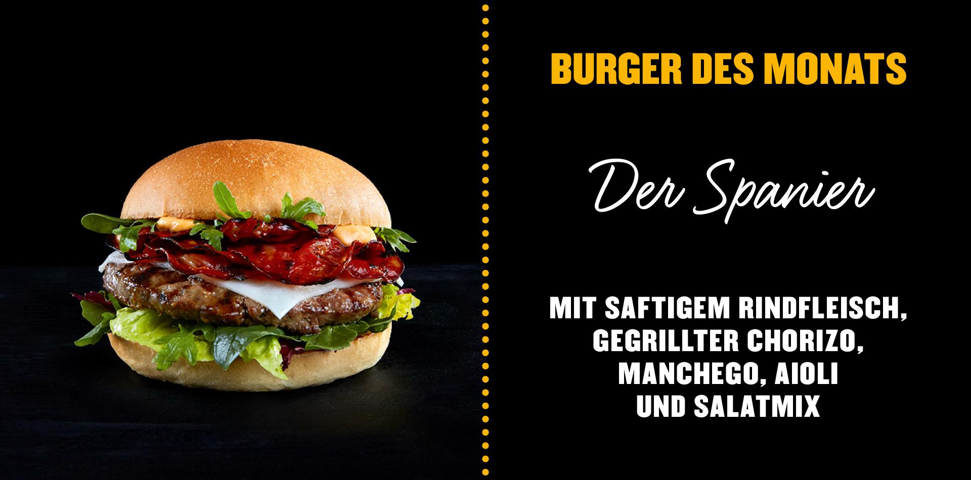 Burger des Monats Hamburgerei - Der Spanier